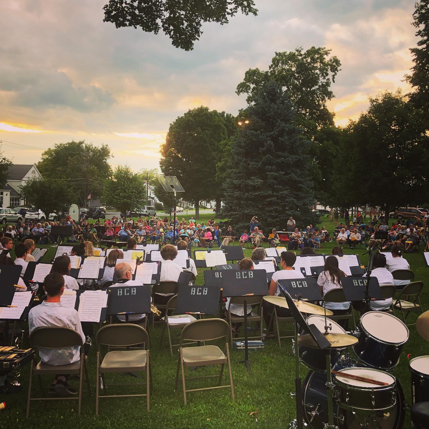 Sunset at Belchertown Community Band concert