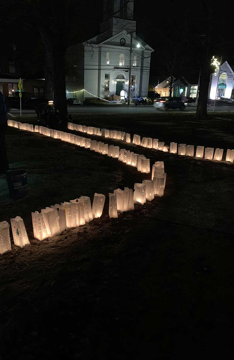 Luminarias at Winter Light Night